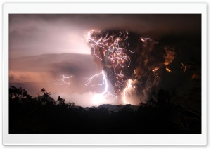 Volcano Eruption HD Wide Wallpaper for Widescreen