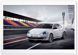 Volkswagen Beetle White HD Wide Wallpaper for Widescreen