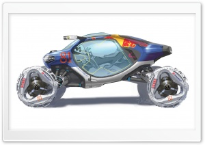 Volkswagen Bio Runner Sketch HD Wide Wallpaper for Widescreen