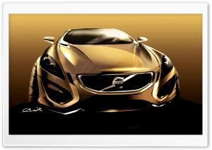 Volvo S60 Concept Sketch HD Wide Wallpaper for Widescreen