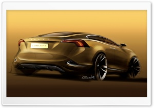 Volvo S60 Concept Sketch 1 HD Wide Wallpaper for Widescreen