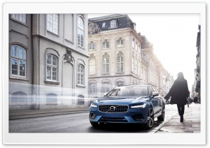 Volvo S90 Blue car HD Wide Wallpaper for Widescreen