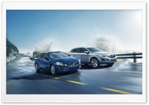 Volvo V50 and XC60 HD Wide Wallpaper for Widescreen