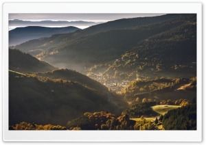 Vosges Mountains, Alsace, France, Autumn HD Wide Wallpaper for 4K UHD Widescreen desktop & smartphone