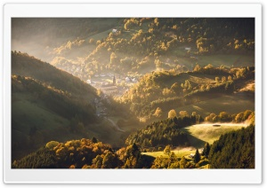 Vosges Mountains, Autumn Landscape HD Wide Wallpaper for 4K UHD Widescreen desktop & smartphone