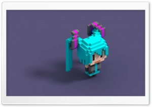 VoxelMiku HD Wide Wallpaper for Widescreen