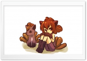 Vulpix Pokemon HD Wide Wallpaper for Widescreen