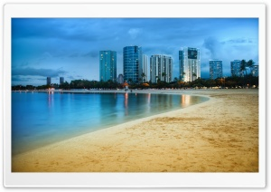 Waikiki After Sunset HD Wide Wallpaper for Widescreen