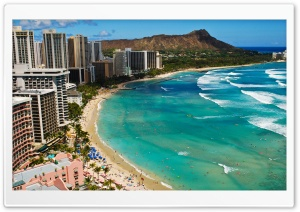 Waikiki Beach HD Wide Wallpaper for Widescreen