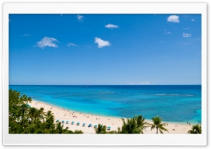 Waikiki Beach and Pacific Ocean HD Wide Wallpaper for Widescreen