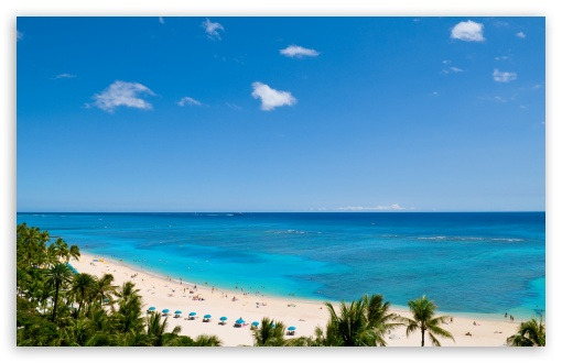 Waikiki Beach and Pacific Ocean HD wallpaper for Standard 4:3 5:4 ...