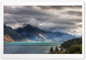 Wakatipu Lake In Queenstown HD Wide Wallpaper for 4K UHD Widescreen desktop & smartphone