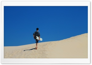 Walk Up The Dunes HD Wide Wallpaper for Widescreen