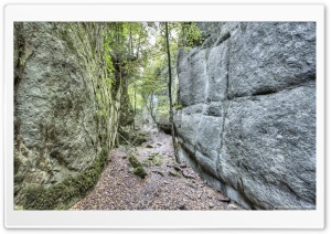 Walking Between Rock Walls Catalonia HD Wide Wallpaper for Widescreen