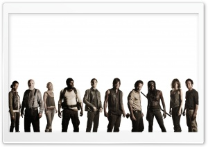 Walking Dead Cast HD Wide Wallpaper for Widescreen