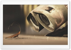 Wall E And A Cricket HD Wide Wallpaper for 4K UHD Widescreen desktop & smartphone