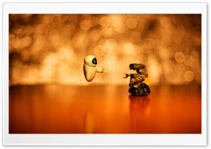 Wall-E And Eve Ultra HD Wallpaper for 4K UHD Widescreen desktop, tablet & smartphone