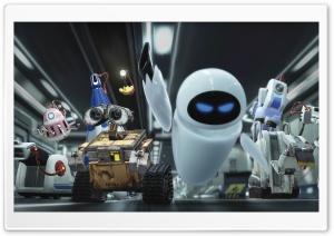 Wall E And Eve Ultra HD Wallpaper for 4K UHD Widescreen desktop, tablet & smartphone
