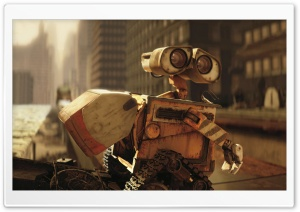 Wall-E In The City HD Wide Wallpaper for Widescreen