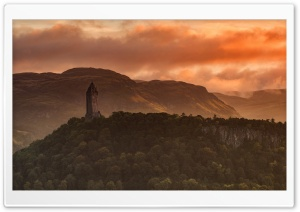 Wallace Monument, Abbey Craig, Stirling, Scotland HD Wide Wallpaper for Widescreen