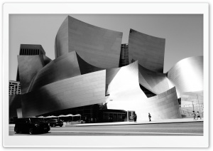 Walt Disney Concert Hall Monochrome HD Wide Wallpaper for 4K UHD Widescreen desktop & smartphone