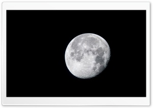Waning Gibbous moon Ultra HD Wallpaper for 4K UHD Widescreen desktop, tablet & smartphone
