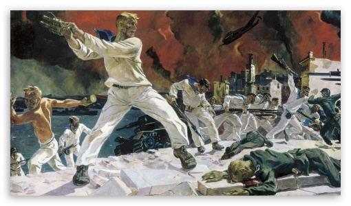 War Painting HD wallpaper for HD 16:9 High Definition WQHD QWXGA 1080p 900p 720p QHD nHD ;