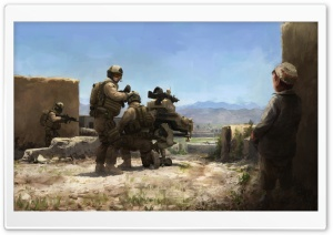 War Painting HD Wide Wallpaper for Widescreen