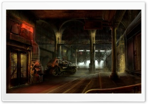 Warehouse Artwork HD Wide Wallpaper for Widescreen