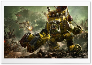 Warhammer 40,000 Dawn of War III 3 Ork Faction HD Wide Wallpaper for 4K UHD Widescreen desktop & smartphone