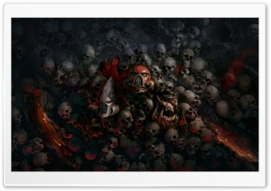 Warhammer 40,000 Dawn of War III 3, Skulls HD Wide Wallpaper for Widescreen