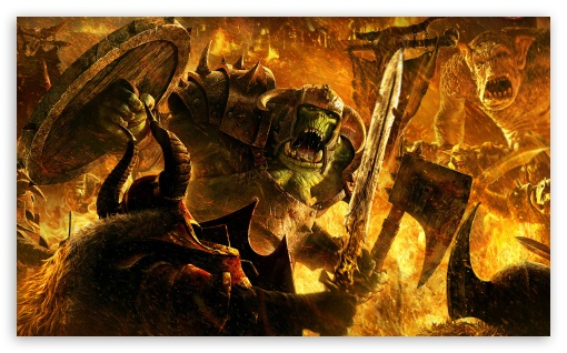 Warhammer: Mark of Chaos HD wallpaper for Wide 5:3 Widescreen WGA ; HD 16:9 High Definition WQHD QWXGA 1080p 900p 720p QHD nHD ; Mobile WVGA PSP - WVGA WQVGA Smartphone ( HTC Samsung Sony Ericsson LG Vertu MIO ) Sony PSP Zune HD Zen ;