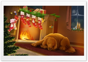 Warm Christmas Night HD Wide Wallpaper for Widescreen