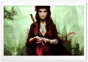 Warrior Girl HD Wide Wallpaper for Widescreen