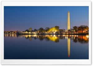 Washington DC Memorials at Night HD Wide Wallpaper for Widescreen