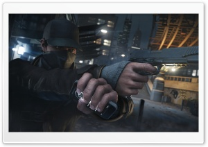 Watch Dogs - Aiden Pearce HD Wide Wallpaper for Widescreen
