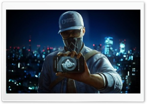 WatchDogs 2 - Marcus Holloway HD Wide Wallpaper for Widescreen