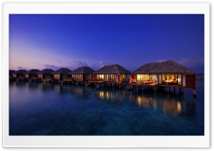 Water Bungalows HD Wide Wallpaper for Widescreen