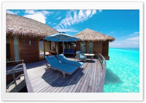 Water Bungalows In Maldives Resort HD Wide Wallpaper for 4K UHD Widescreen desktop & smartphone