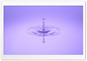 Water Droplet Reflection HD Wide Wallpaper for Widescreen
