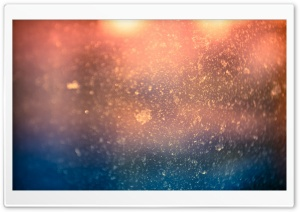 Water Drops Bokeh On Window Glass HD Wide Wallpaper for Widescreen
