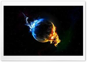 Water Fire Elements Ultra HD Wallpaper for 4K UHD Widescreen desktop, tablet & smartphone