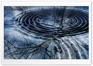Water Ripples Top View HD Wide Wallpaper for Widescreen