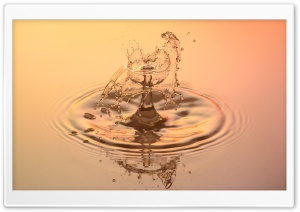 Water Splash Effect HD Wide Wallpaper for Widescreen
