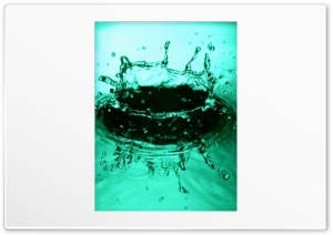 Water Splash Green HD Wide Wallpaper for Widescreen