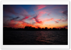 Water Sunset HD Wide Wallpaper for Widescreen