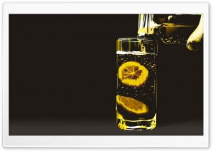 Water With Lemon HD Wide Wallpaper for Widescreen