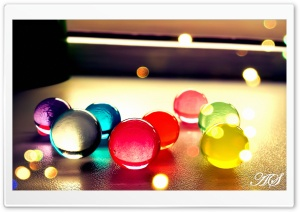 Waterbeads Jelly Pearls Ultra HD Wallpaper for 4K UHD Widescreen desktop, tablet & smartphone