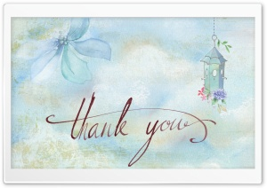 Watercolor Thank You Card HD Wide Wallpaper for Widescreen