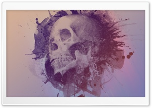 Watercolour Skull Design HD Wide Wallpaper for Widescreen